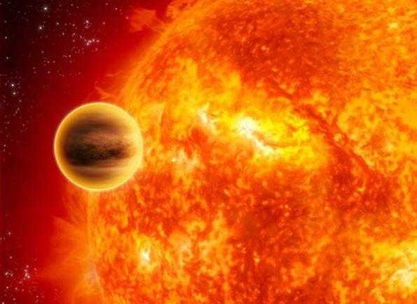 WASP-12b is estimated to be the hottest planet yet found (Illustration: ESA/C Carreau)