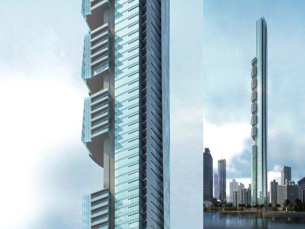 The Pentominium Dubai rascacielos building