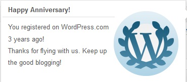 3years with wordpress