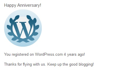 4year on wordpress